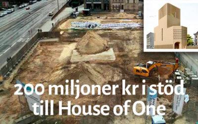 House of One i Berlin får 200 miljoner kronor från stat och kommun.